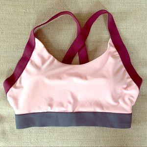 Women's bra top w/crisscross back straps